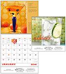 Cocktails Spiral Wall Calendars
